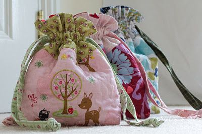 tutorial for cute drawstring bags