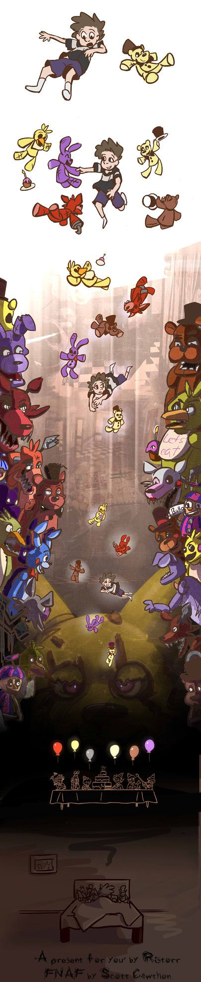 FNAF comic - A present for you [final] (updated) by Ristorr