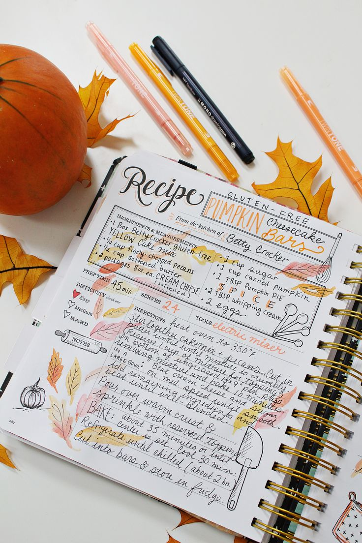 Book For Recipes Journal Notebook Recipe Keeper