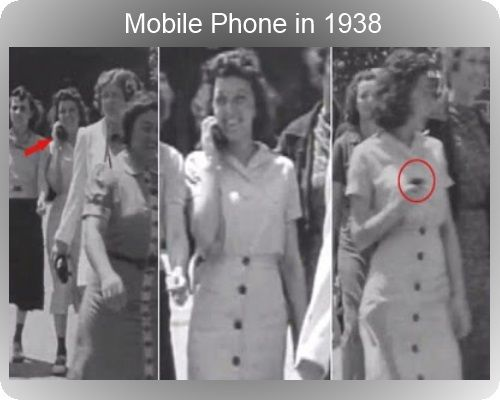 Time travel evidence :-)/ No, don't buy it. Who was there to talk to on a mobile phone in 1948?