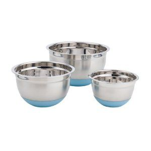 Paderno 3-Piece Mixing Bowl Set - Blue Base: Amazon.ca: Home & Garden