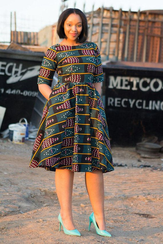 African print dress Ankara print African by EssieAfricanPrint