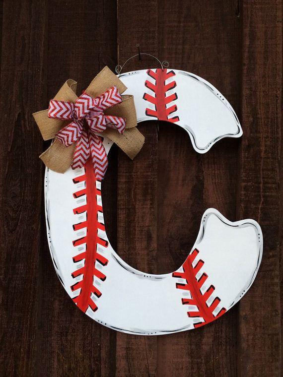 Baseball/Softball lovers must have letter door by JAGARToriginals