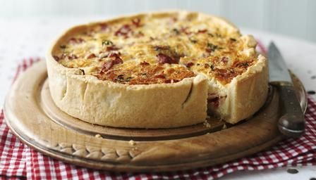 For James Martin's easy cheese and bacon quiche, choose between homemade pastry or a quick shop-bought version.