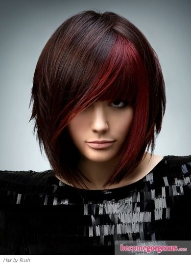 Hmmmm...me likey!Haircuts, Hairstyles, Hair Colors, Red Hair, Haircolor, Beautiful, Hair Cut, Hair Style, Red Highlights