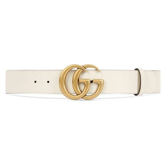 e71c32643ca Leather belt with Double G buckle - Gucci Women s Belts 400593AP00T9022