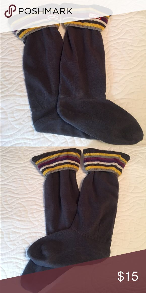 Hunter Tall Rain Boot Socks - Like New Fuzzy, fleece socks meant for Tall Hunter Rain Boots. Pairs nicely with almost any color. Only worn a few times - in great condition!!! ✖️ Non-smoker ✖️ No Emails ✖️ Hunter Boots Accessories Hosiery & Socks