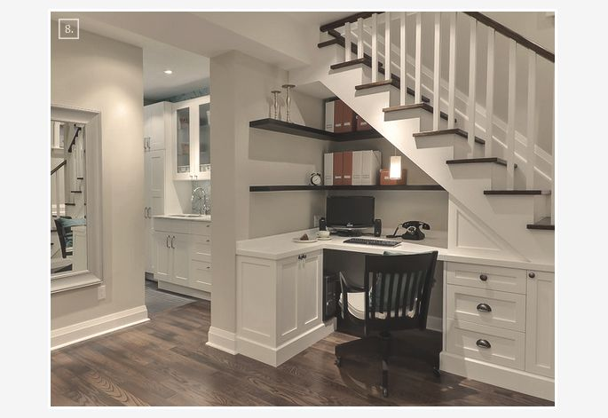 Basement Stair Ideas For Small Spaces: 17 Best Ideas About Basement Home Office On Pinterest