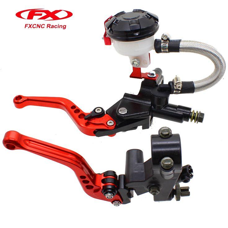 FX CNC Hydraulic Brake Cable Clutch  Red Set For YAMAHA Honda KTM KAWASAKI BMW 125-400CC Motorcycle Brakes Moto Parts