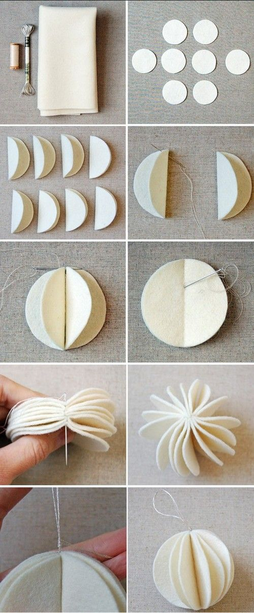 Love this DIY for felt ornaments which you can really use for anything!