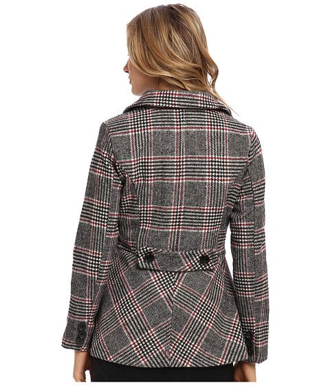 dollhouse Classic Double-Breasted Notched Collar w/ Back Belt Detail Coat