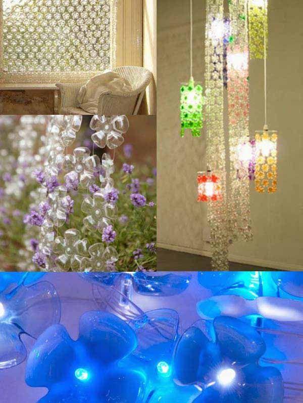 127 best images about plastic bottle crafts plastic for Plastic bottle decoration images
