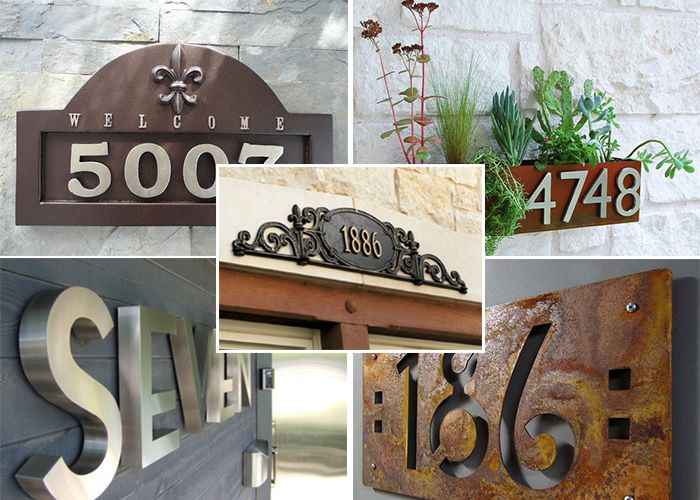 Plus de 1000 id es propos de num ro de maison sur pinterest - Numero de maison design ...