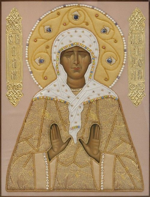 St Matrona of Moscow - Hand-Painted Icon from the Workshop of St. Elisabeth…