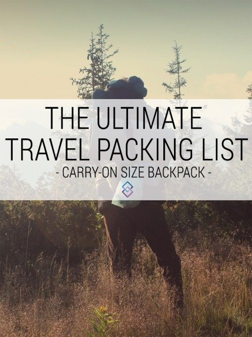 The ultimate travel packing list! What to pack for a round the world trip. Everything fits in a carryon size backpack!