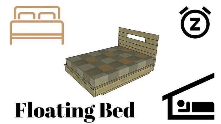 1000 ideas about floating bed frame on pinterest bed for Floating bed frame