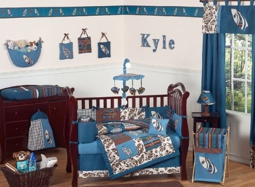 This is the idea that I want to go with for my baby boy's nursery