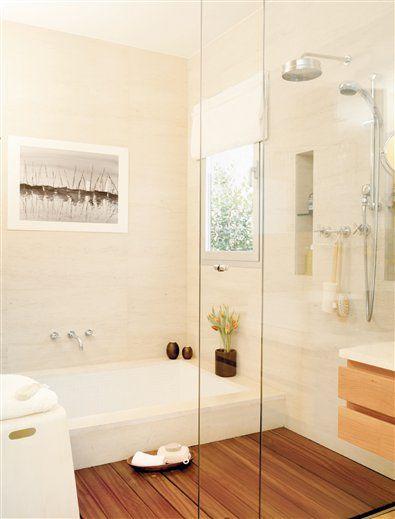 Reformas planifica un ba o con ba era y ducha ba os for Banos modernos con banera