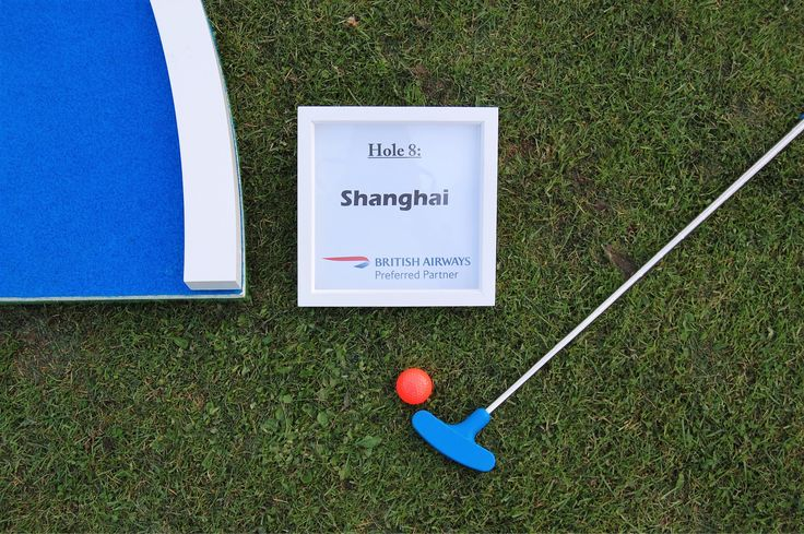 Naming the holes at a corporate event with British Airways and Audley Travel