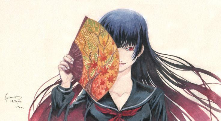 Dusk Maiden of Amnesia: Yuuko and her Fan by Nick-Ian.deviantart.com on @DeviantArt