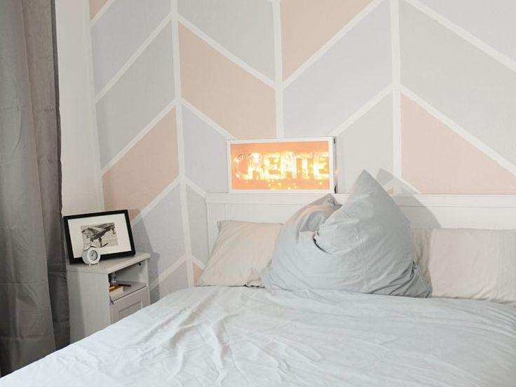 Die besten 25+ Chevron Muster Wände Ideen auf Pinterest Glitter - wände streichen ideen schlafzimmer
