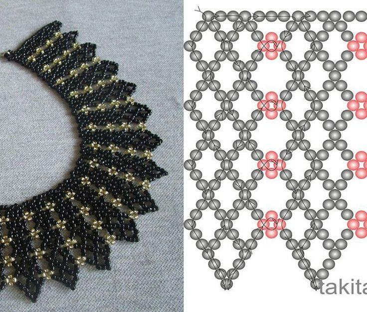 Netting schema from Beads Magic ~ Seed Bead Tutorials