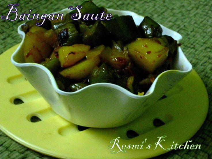 Resmi's kitchen: MEXICAN BRINJAL SAUTE / EGG PLANT SAUTE