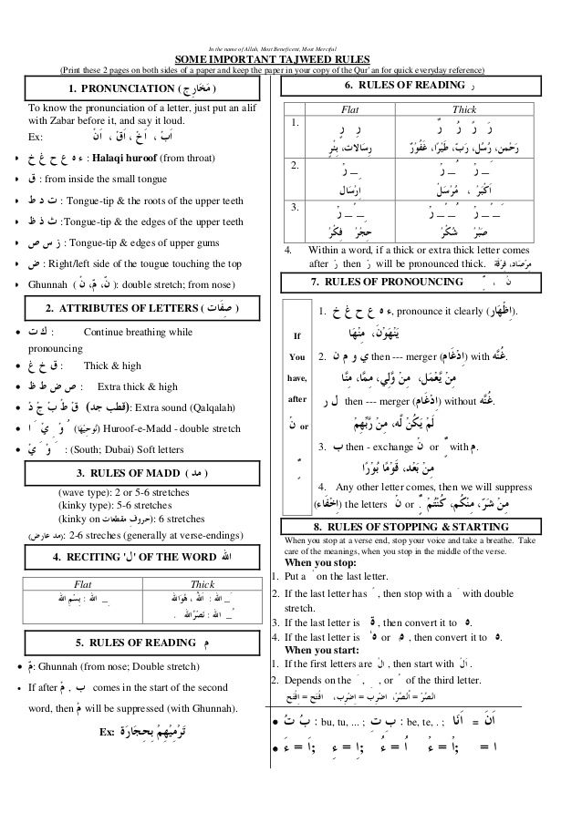 tajweed rules - Google Search