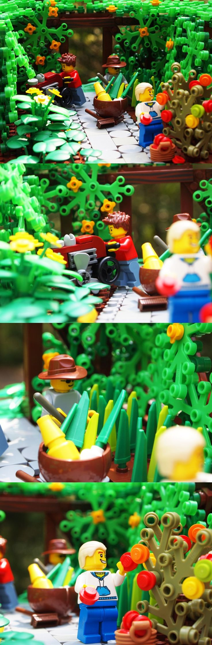 Gardening! LEGO. Mark of Farworth (I think) Thanks for my favorite real life setting done with my favorite indoor activity!