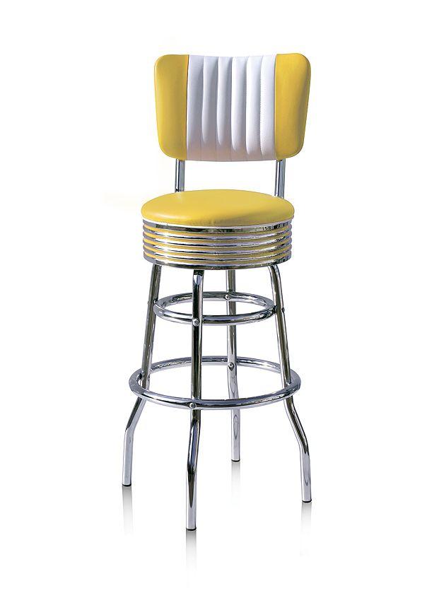 #sgabelli #barstools BS-29CB Yellow H: 109 cm / H: 77 cm