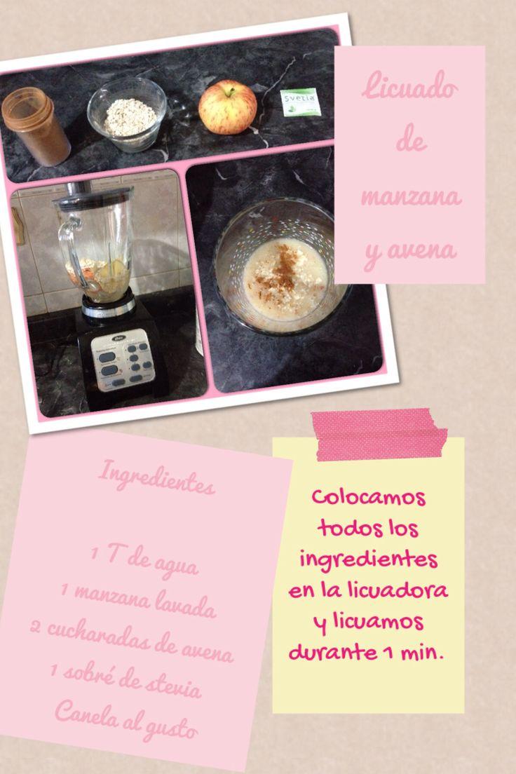 Opción desayuno saludable de licuado de manzana y avena #desayuno #saludable #estudiantes #umayor