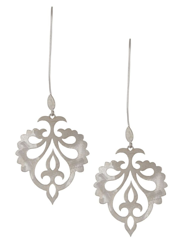 Buy Mughal Jali Silver Earrings Online at Jaypore.com