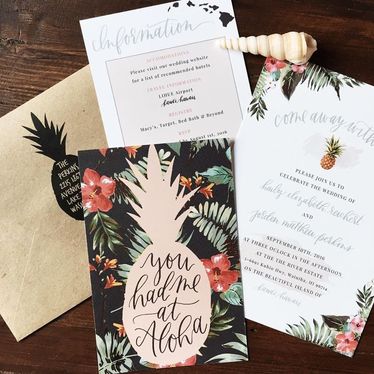 best 25+ hawaiian invitations ideas on pinterest | luau, Wedding invitations