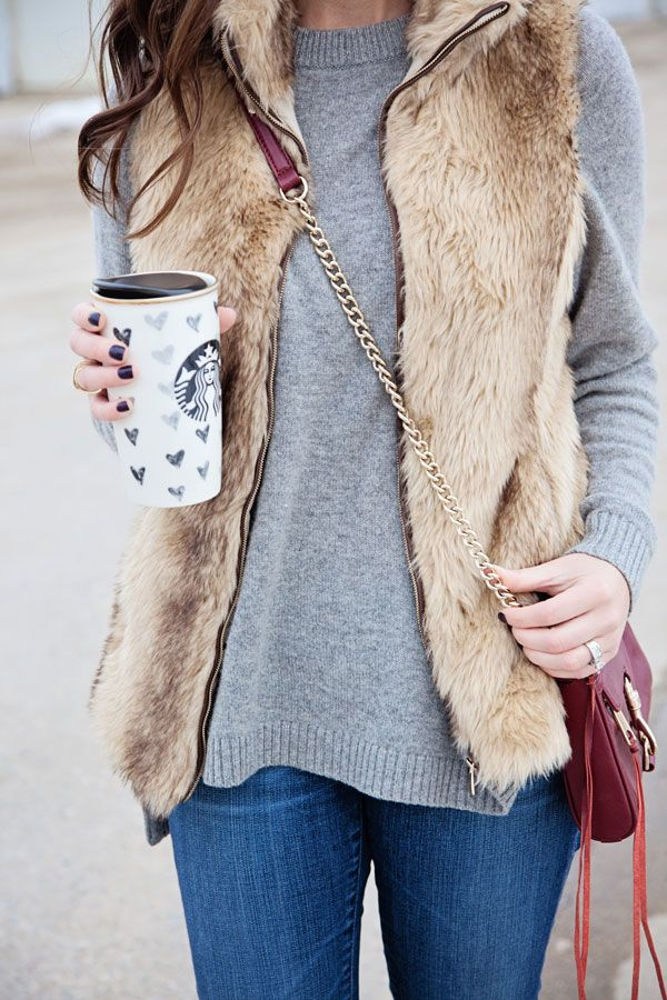 jillgg's good life (for less) | a west michigan style blog: my everyday style: a faux fur vest!