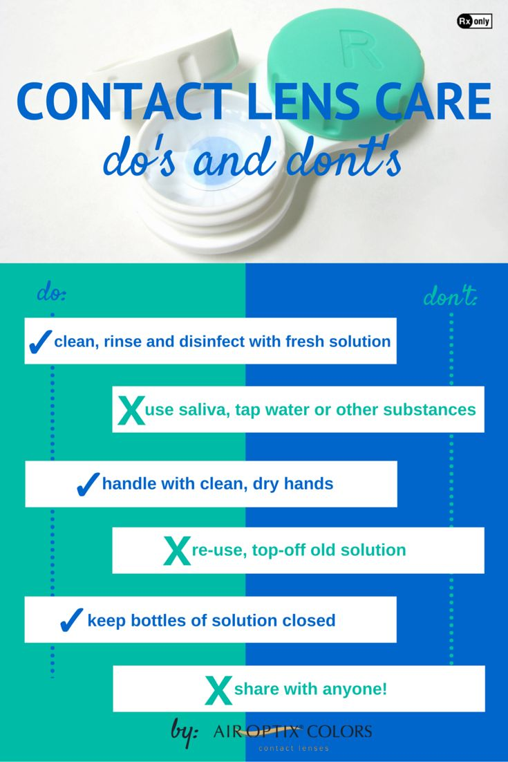 Keep your contacts as fresh as your make-up with these contact lens care do's and don'ts! #eyesafety