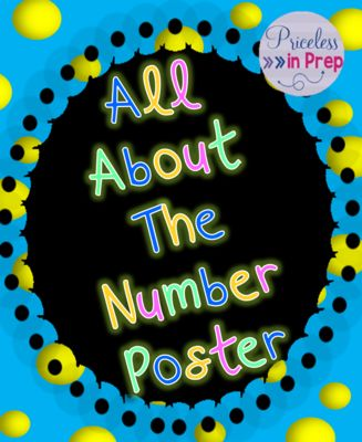 Number of the Day Display Poster- All About The Number from Priceless In Prep on TeachersNotebook.com -  - Number of the Day Display Poster  Math lesson Focus centre center calendar place value differentiation differentiate