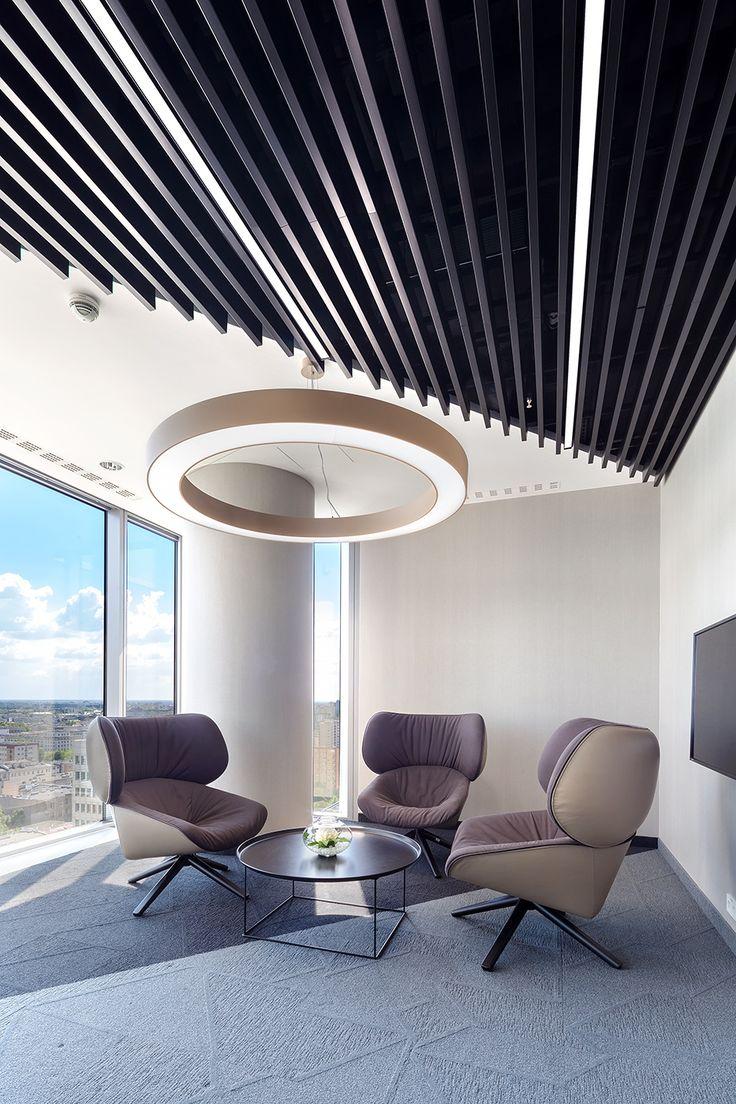 Biuro EY, Warszawa, Armstrong, sufity podwieszane, sufit akustyczny, acoustic, ceiling, office