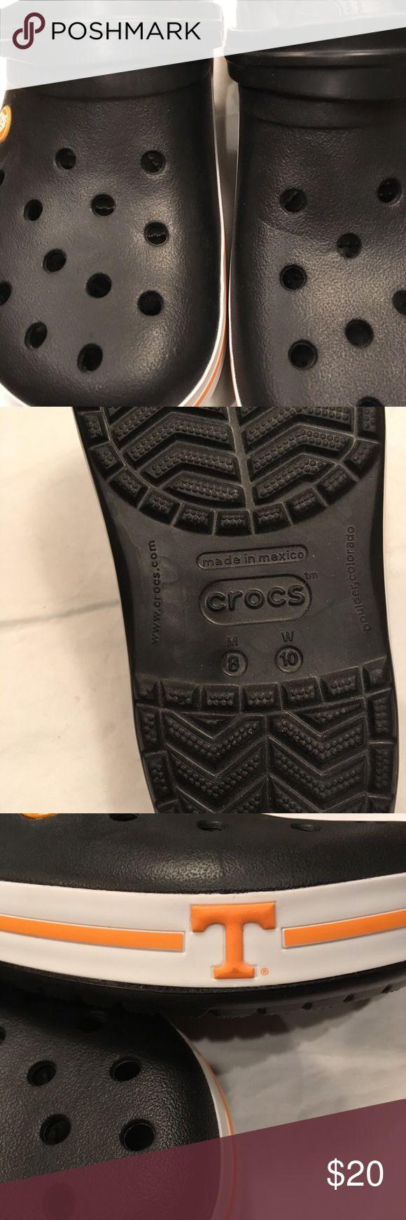NWOT Crocs mens 8 women's 10 University of TN New no tags CROCS Shoes Slippers