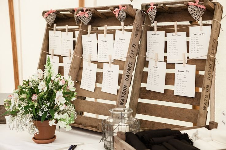 Table setting made with Vintage crates.