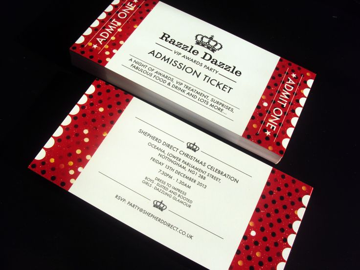 Tickets Printed for Shepherd Direct. #TicketPrintNottingham #PrintNottingham