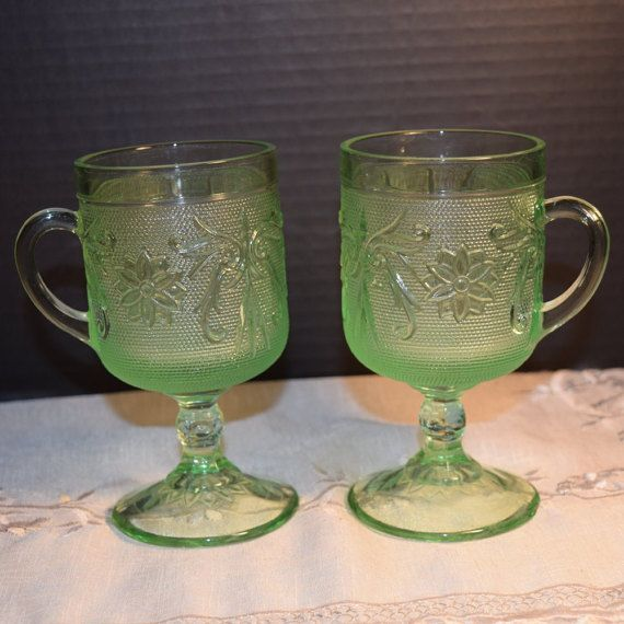 Check out this item in my Etsy shop https://www.etsy.com/listing/252171974/tiara-chantilly-green-mugs-set-2-vintage