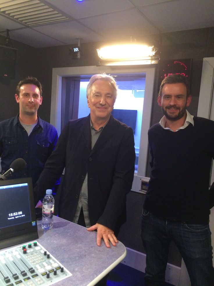 Does anyone know a year for this. -- ???????? -- Austenid — Alan Rickman recording a podcast last year. ...