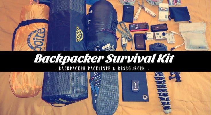 Diese Backpacker Packliste & Ressourcensammlung umfasst die Ausrüstung und Quellen die ich für meine Reisen nutze. Mein Basis Survival Kit für jede Reise!