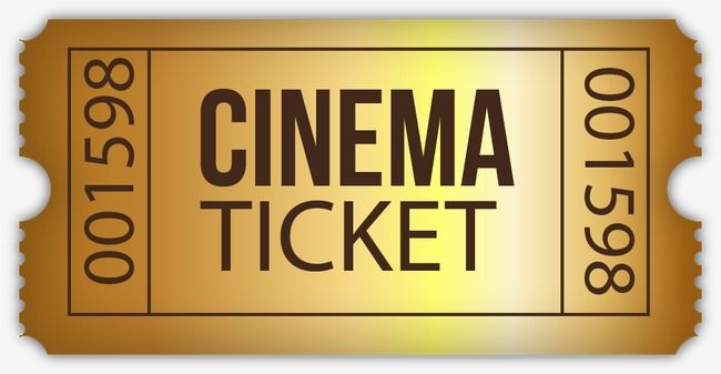 Movie Tickets Vector Material Golden Golden Movie Ticket Vector Png And Vector With Transparent Background For Free Download Movie Tickets Movies Cinema Ticket
