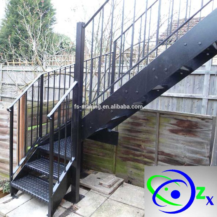 Best Outdoor Metal Fire Escape Staircase Exterior Prefab Mild 400 x 300