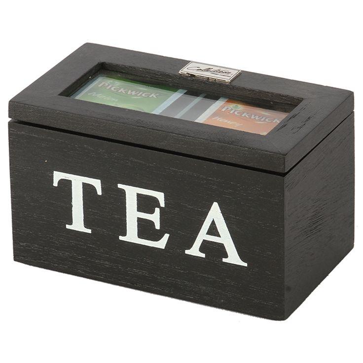 Thee doos Altavilla 2 vaks zwart. Collectione / Casa-Bella #Accessoires #Opbergen #Doosje #Box #Theedoos #Tea