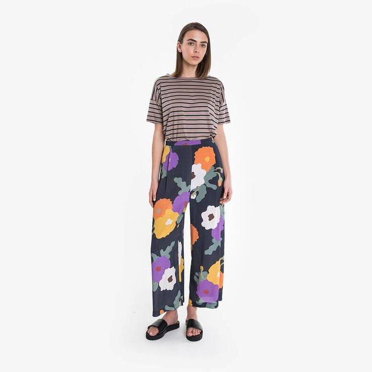 KATERYNA PANT is a flattering wide leg silhouette with a luxurious drape that will make you feel a million dollars. Online and instore now! (ALL STORES open today!) #obus #obusclothing #floral #pant #veleskaistoriya #spring #summer #springfashion #summerfashion #widelegpants #wideleg #madeinmelbourne #melbournefashion #madeinmelbourne #springracing