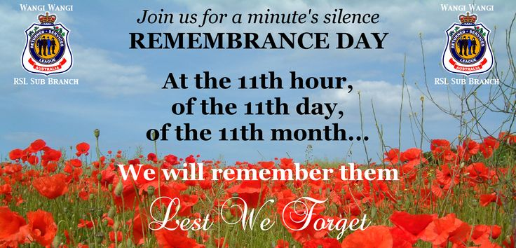 Remembrance Day banner designed by Leigh Warren from our Sub Branch: