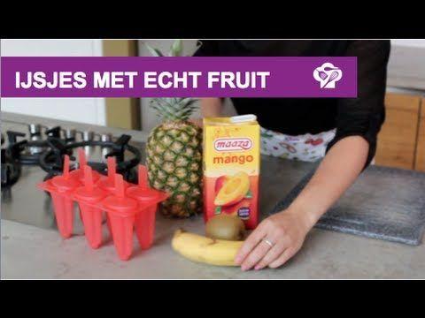 Lekkere frisse fruitijsjes maken - YouTube