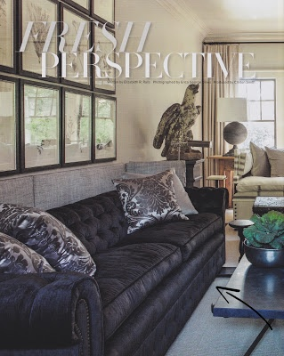 Holland & Company's Chesterfield sofa in Brown Velvet!